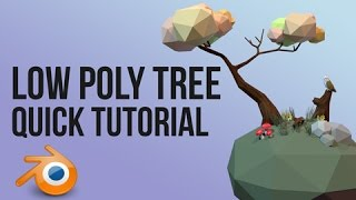 low poly tree | Blender | quick