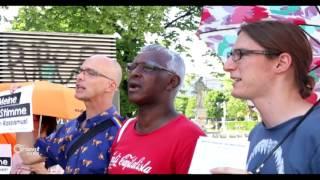 وقفة تضامنية مع اللاجئين وسط مدينة فيينا في يوم اللاجئ العالمي