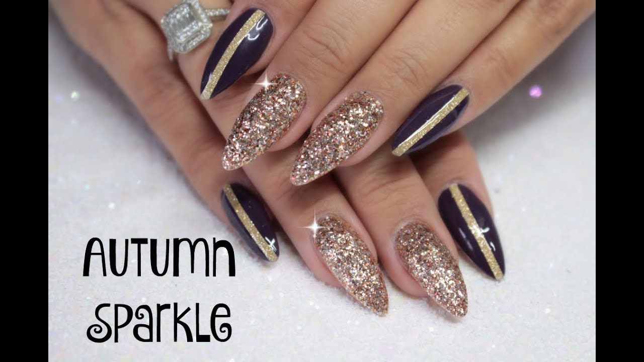 🍂✨AUTUMN/FALL GOLDEN SUGARED SPARKLE NAILS // MAGPIE NEW GELS ...