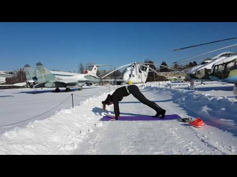 """My first yoga steps """" Aviation museum """""""