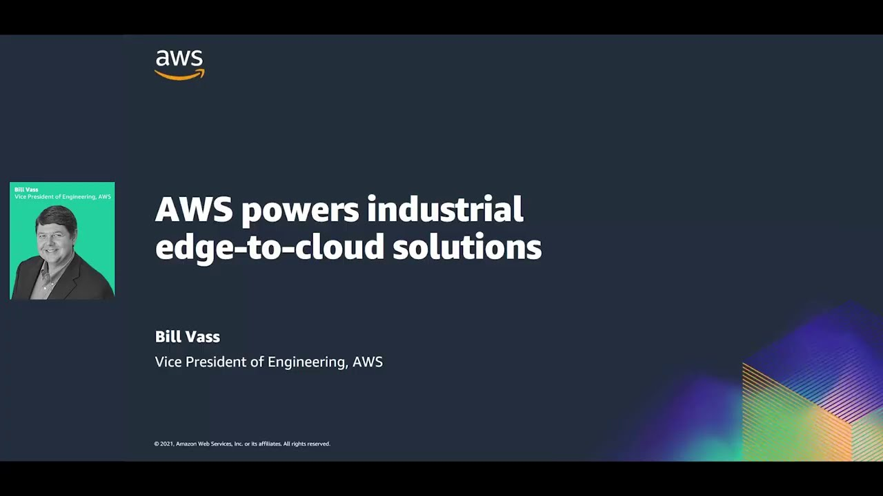 AWS Powers Industrial Edge-to-cloud Solutions - Hannover Messe 2021
