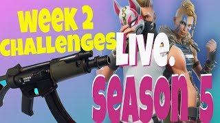Fortnite Live - Season 5 Week 2 Challenges V-Bucks Tournament Practice