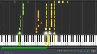 The Journey to the Heaviside Layer - Cats - piano tutorial on Synthesia