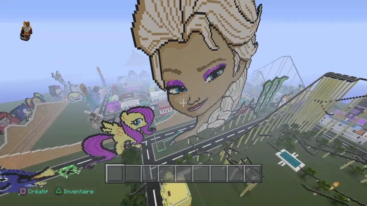 Minecraft raiponce battu la reine des neiges enorme - Raiponce la reine des neiges ...