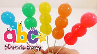 ABC Phonic Song   DIY Colors Orbeez Skewered Jelly Gummy Pudding - Learn Colors Nursery Rhymes