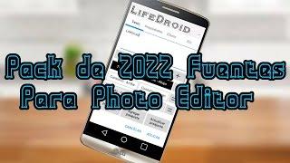 Pack De Fuentes De Letras Para Photo Editor Android