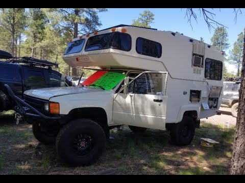 Unicorn for sale : Old school Overlander - 1984 Toyota Sunrader 4x4 RV with  original 22R engine