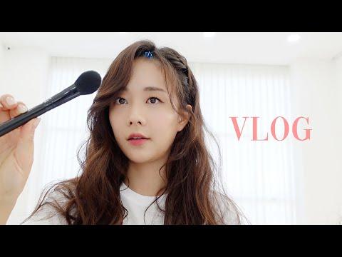 [Eng] 일하는 브이로그(정든 팔로우미 마지막 촬영, 헤어스타일링, 떡튀순 먹방)