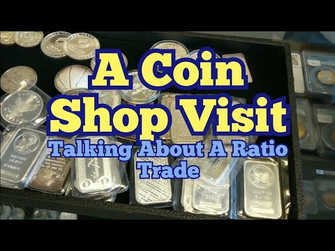 Coin Shop Visit to trade silver for gold.  Gold Silver Ratio & Spot Price action is making me think.