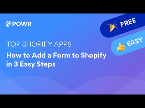 How to Add a Form to Shopify in 3 Easy Steps (2021)