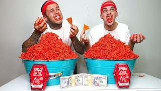 HOT CHEETOS CHALLENGE!!! ($10,000 CASH BET)