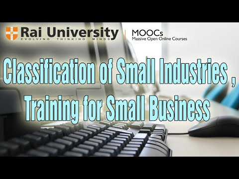 Classification of Small Industries