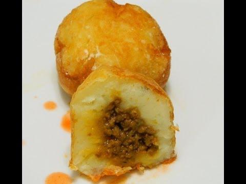 Rellenos de Papa or Stuffed Potato Balls