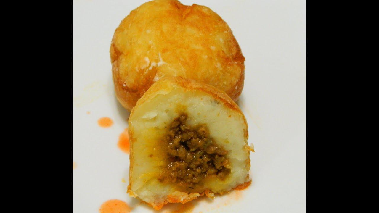 Rellenos de Papa or Stuffed Potato Balls - YouTube