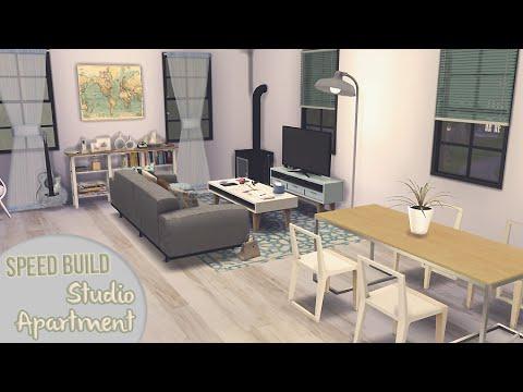 STUDIO APARTMENT [APARTMENT BUILDING #1] - The Sims 4 Speed Build