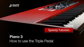 Nord Piano 3 : How to use the Triple Pedal
