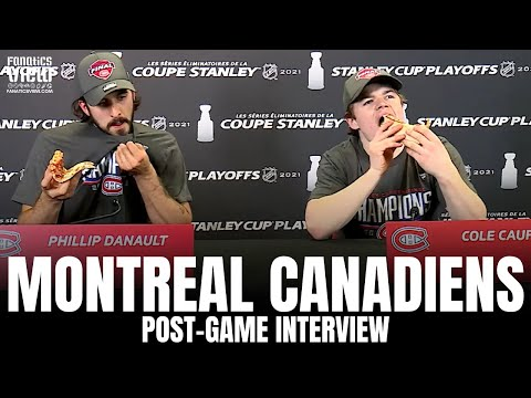 Cole Caufield & Phillip Danault React to Montreal Canadiens Advancing to Stanley Cup   Post-Game