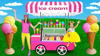 Slava and Yarik Making Fruit Ice Cream with Ice Cream Truck and Learn How to Make Chocolate Pop It
