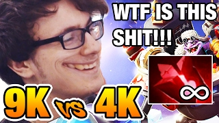 😂9k vs 4k KILL ME PLEASE!!! - Miracle [Timbersaw] Dota2 7.02