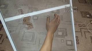 как заменить москитную сетку на окне