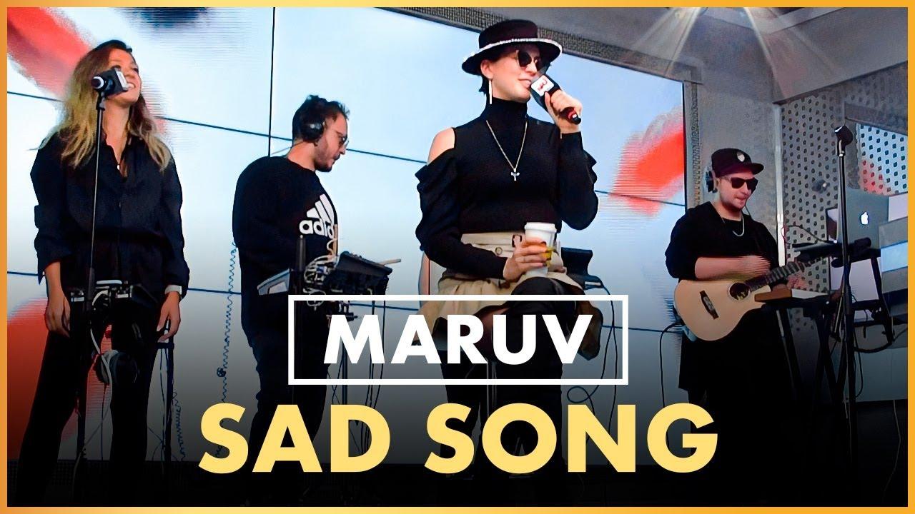 @MARUV - Sad Song, Акустика (Live @ Радио ENERGY)