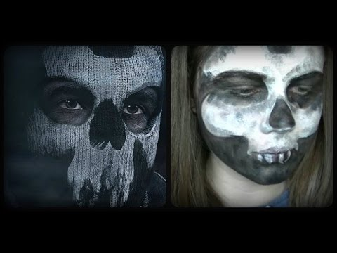 Call Of Duty Ghosts Ajax Inspired Face Paint Youtube