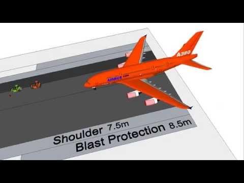 Runway Construction 4km x 60m 3D Animation