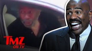 TMZ Tour Catches Steve Harvey In The Streets | TMZ TV