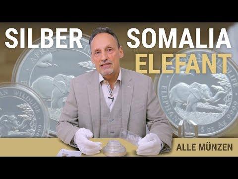 SILBER SOMALIA ELEFANT - ALLE ANLAGEMÜNZEN