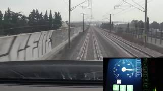 High speed train TGV cockpit view (France)