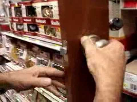 Tighten loose door handles hidden screws, Kwikset Schlage Yale Ezset ...