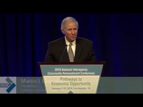 FDIC Chairman Gruenberg at the 2016 National Interagency Community Reinvestment Conference
