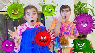 Nastya and Mia - Children story about Viruses