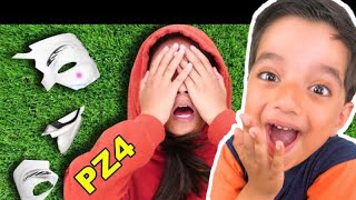 Kids REACT to Chad Wild Clay HACKER GIRL UNMASKED in NINJA BATTLE ROYALE (I Saw PZ4 Regina Face)