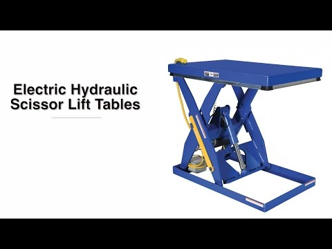 Electric Hydraulic Scissor Lift Table EHLT PRODUCT VIDEO - YouTube