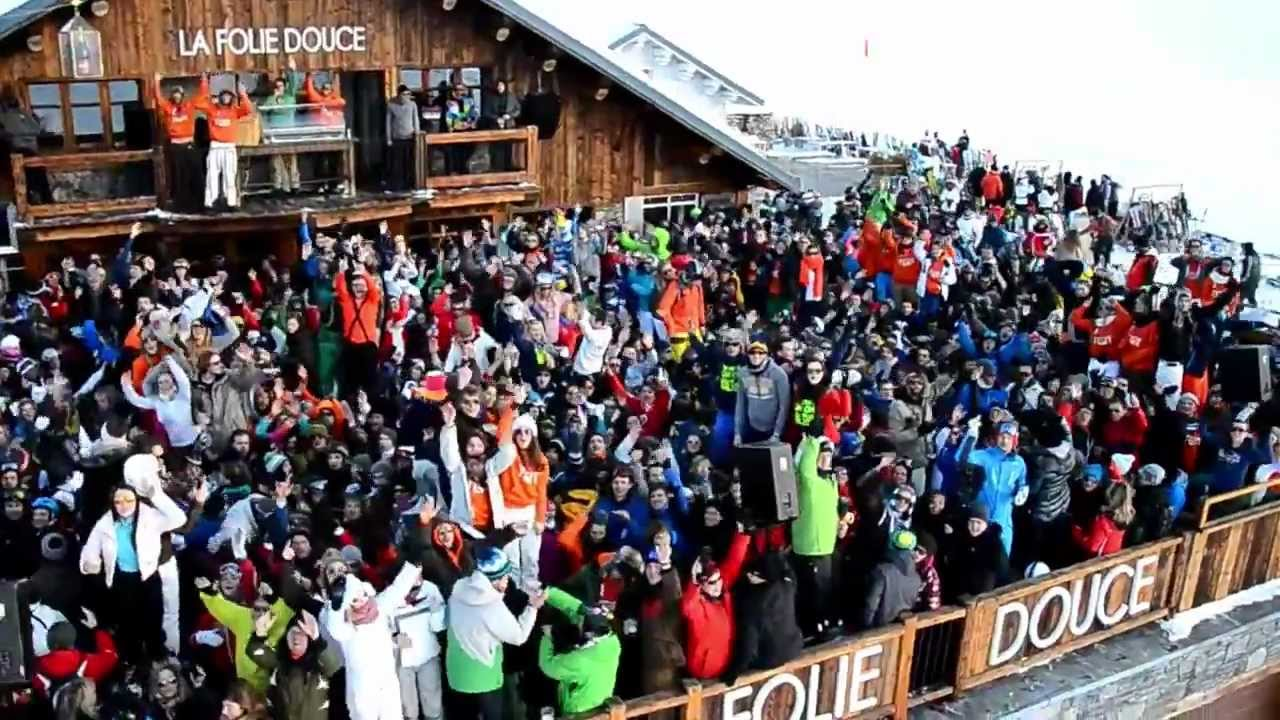 Graham Bell Living Life To Its Fullest At La Folie Douce Skiing