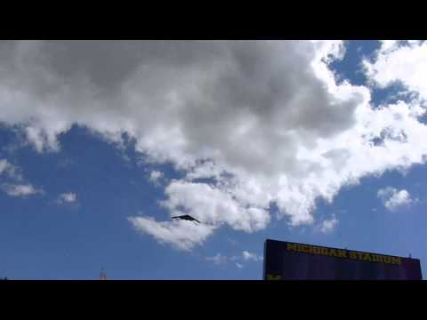 B2 Stealth Bomber flyover Michigan Stadium