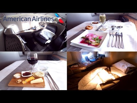 American Airlines FIRST CLASS London to Dallas|Boeing 777-30