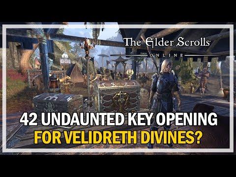 42 UNDAUNTED KEYS OPENING VELIDRETH DIVINES? Episode 4 - The Elder Scrolls Online