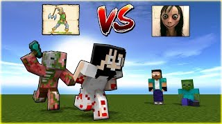MOMO VS AXE THROW CHALLENGE | Monster School - Minecraft Animations