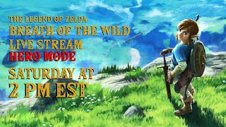 Let's Play Zelda Breath of the Wild Hero Mode Live Stream Episode 23