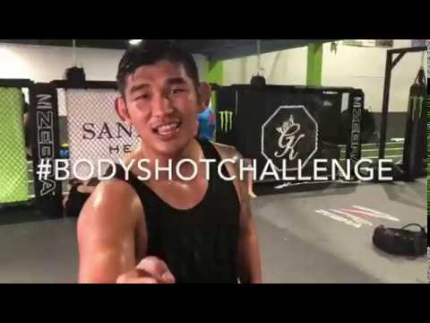 Aung La Nsang taking bodyshots from various fighters from Sanford MMA