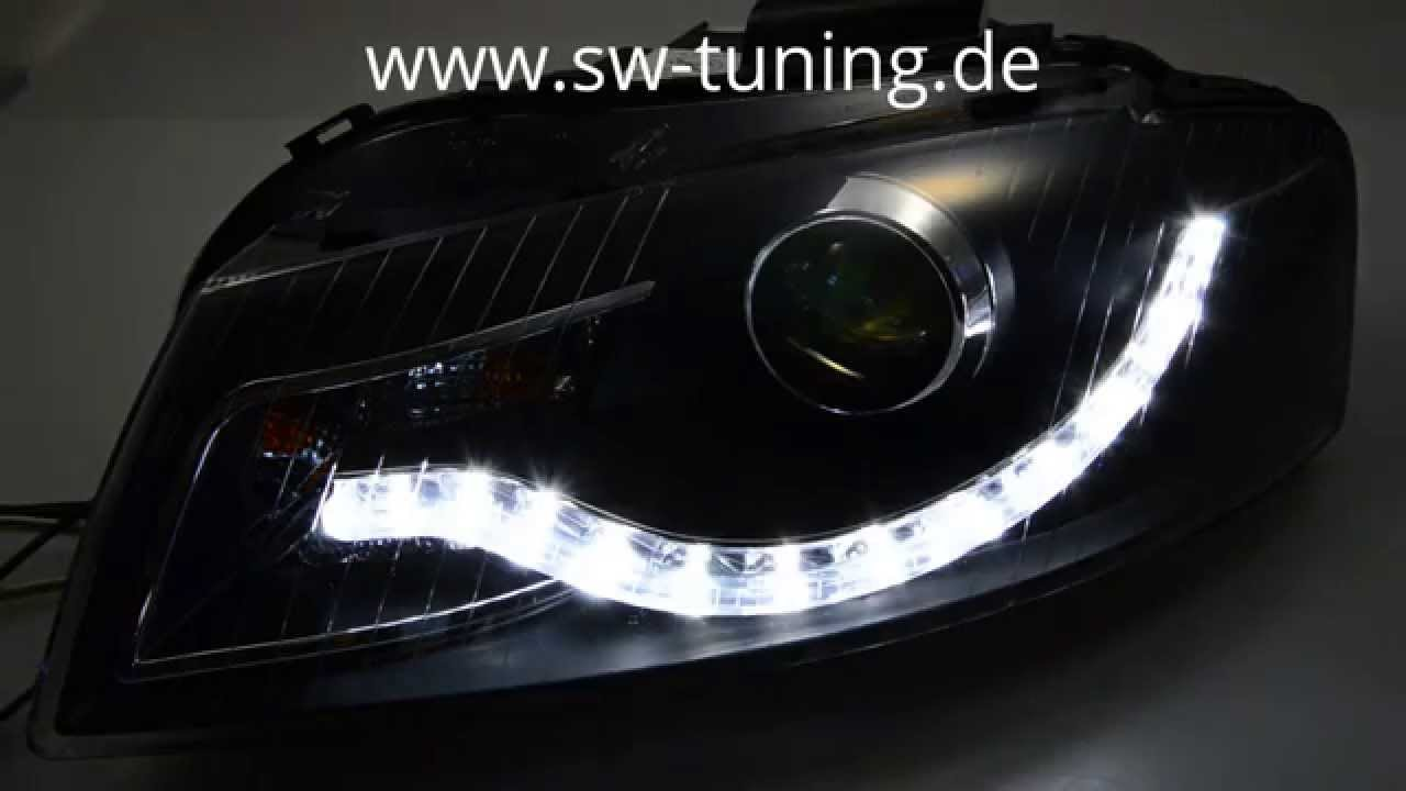 swdrl scheinwerfer audi a3 8p 8pa 03 08 led tagfahrlicht. Black Bedroom Furniture Sets. Home Design Ideas