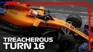 Leclerc, Hamilton, Hulkenberg & More Spin Off at Turn 16 | 2019 German Grand Prix
