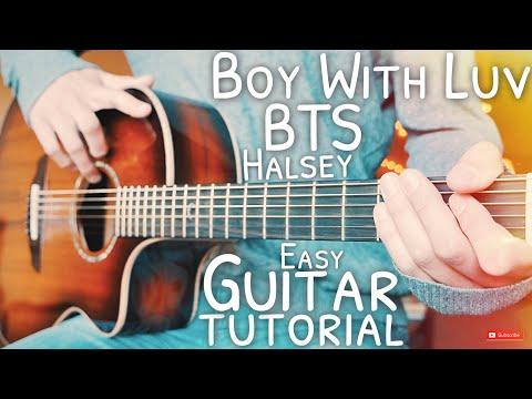 Boy With Luv (작은 것들을 위한 시) BTS Halsey Guitar Tutorial // Boy With Luv Guitar // Guitar Lesson #664