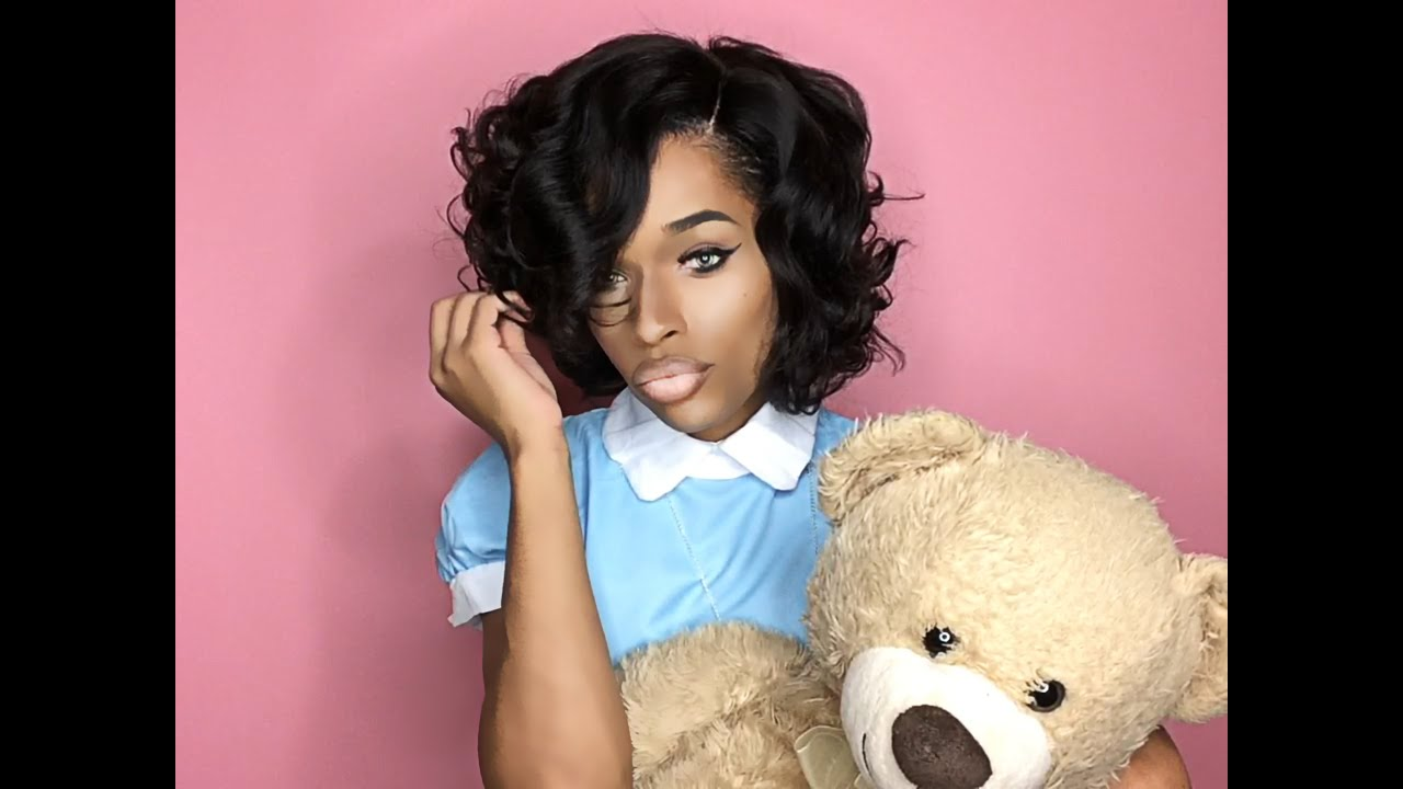 premierlacewigs | hollywood glamour written curls short