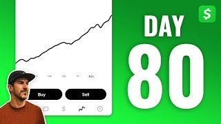 THIS STOCK IS CRAZY! Investing $1 in Stocks Every Day with Cash App - DAY 80