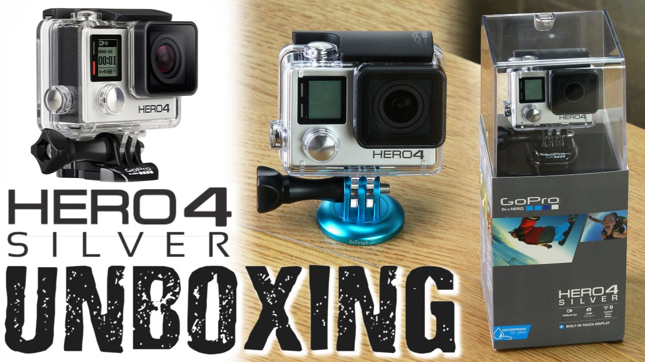 gopro hero4 silver unboxing new accessories youtube