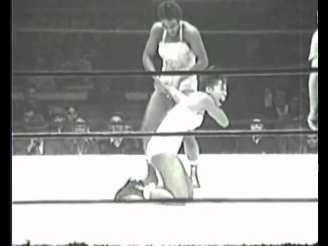 Ramona Isabella & Ethel Johnson vs Babs Wingo & Marva Scott 1950's female women wrestling ladies