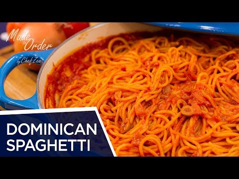 Dominican Spaghetti | Espaguetis Dominicano | Dominican Recipes | Made To Order | Chef Zee Cooks